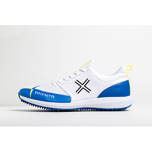 Payntr V Pimple - White & Blue Cricket Shoes